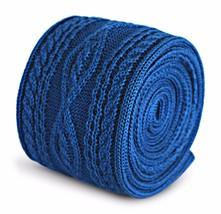 uni bleu roi Cravate en maille avec tricot torsadé design par Frederick Thomas