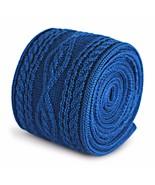 uni bleu roi Cravate en maille avec tricot torsadé design par Frederick ... - $24.50