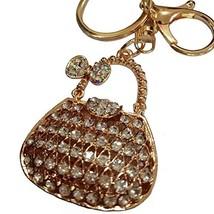 Lyhouse Artificial Women's Bag Inlay Rhinestone Key Chain for Womens Bag... - $9.51