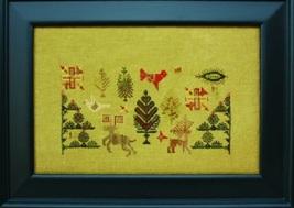 Deer Tree - Quaker Reindeer cross stitch chart The Workbasket  - $10.80