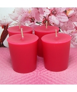 Cherry Blossom PURE SOY Votives (Set of 4) - $7.00