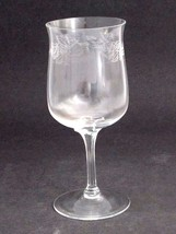 Lenox etched goblet glass Holiday pattern  Crystal  Made in USA Mt Pleas... - $24.07