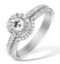 18k White Gold Fn White CZ Round Cut 925 Silver Engagement & Wedding Ring Set - $67.98