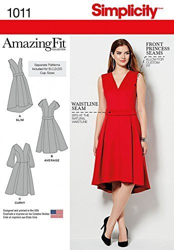 Primary image for Simplicity Ladies Sewing Pattern 1011 Amazing Fit Dresses