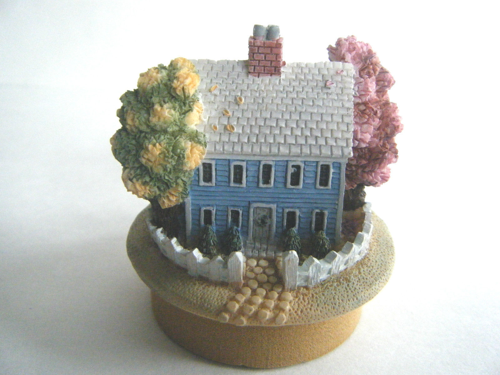 Our America Candle Topper Blue Colonial House Design