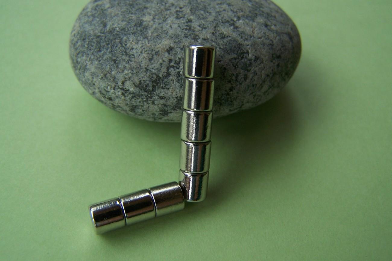 12 pcs (6 sets) Magnetic Tube Bar Clasps 5x5mm A2737