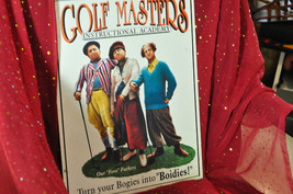 "Three Stooges Golf Masters ""Bogies Into Boidies"" Tin Sign Golf Poster Tv Print - $28.04"