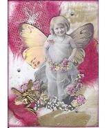 ACEO ATC Art Card Collage Original Girl Garden Fairies Fairy Flora Flowers - $5.00