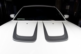 Dodge Charger C-Stripe Hood Graphic Kit Vinyl RT Decal Parts SILVER - $39.96