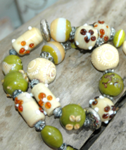 Statement necklace, large beads necklace, Glass necklace, Murano glass, ... - $37.99