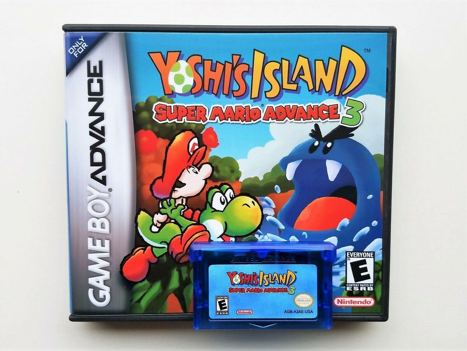 Yoshi's Island Super Mario World Advance 3 - Nintendo Game Boy Advance GBA (USA)