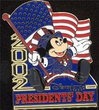 Mickey Mouse Patriotic USA Presidents Day Flag Disney Authentic Pin/pins - $29.99