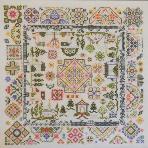 Quaker village cross stitch chart rosewood manor other for Garden of eden xml design pattern