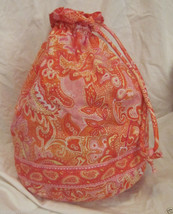 """Vera Bradley """"Sherbet"""" Ditty Bag Laundry Travel Cosmetic Accessories - $29.69"""