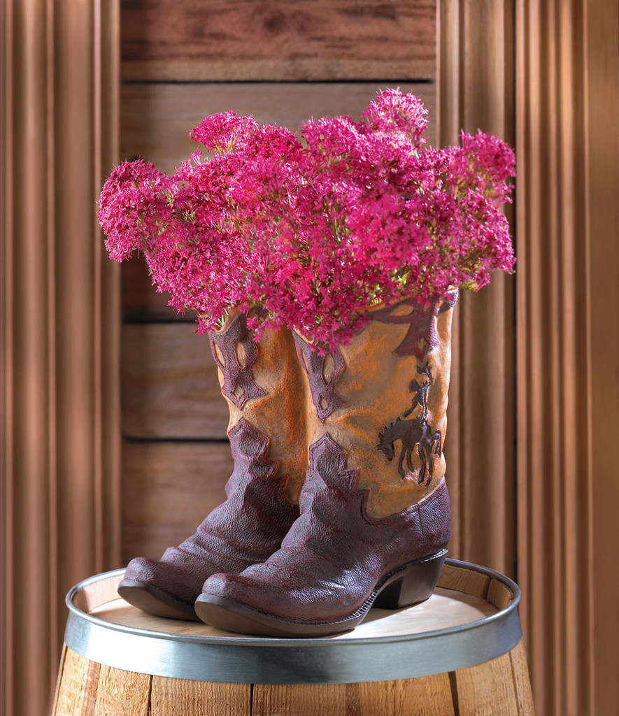 Cowboy Boot Flower Pot Planter- Flower Pots & Plant Stands