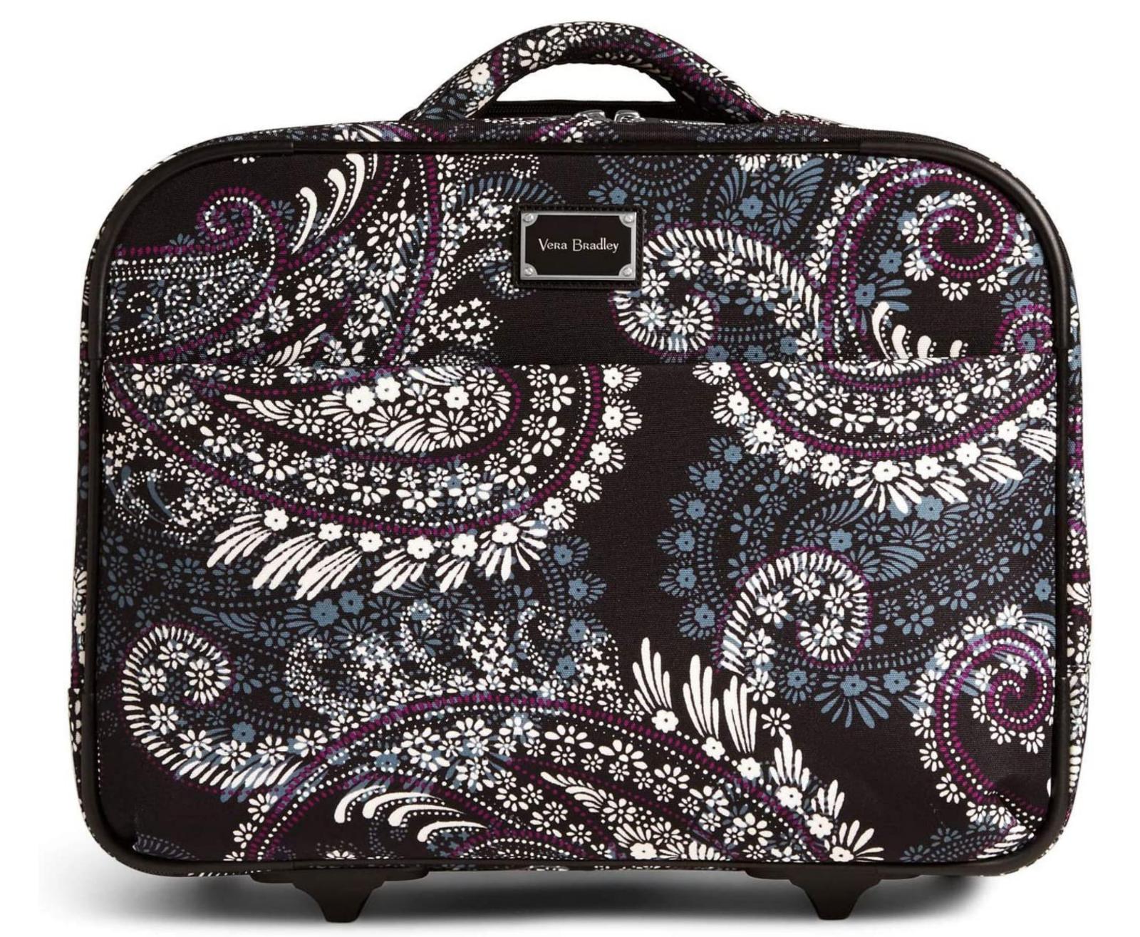 Vera Bradley On a Roll Laptop Work Travel Bag Wheels Paisley Petals - $220 - $138.55