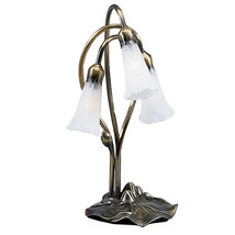 "Meyda Home Indoor Decorative 16""H White Pond Lily 3 Lt Accent Lamp 1235-... - $132.30"