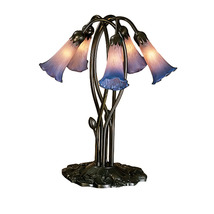 "Meyda Home Decorative 16.5""H Pink/Blue Pond Lily 5 Lt Accent Lamp 1235-1... - $247.59"
