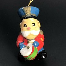 Vintage 90s Toy Soldier Christmas Ornament 1991 Hand Painted - $29.99