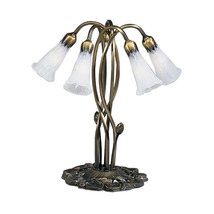 "Meyda Home Indoor Decorative 16.5""H White Pond Lily 5 Lt Accent Lamp 123... - $247.59"