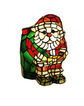 "Meyda Home Decorative 9""H Santa Claus Tiffany Glass Accent Lamp 1235-17241 - $173.88"