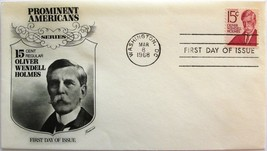 March 8, 1968 First Day of Issue, Fleetwood Cover, Oliver Wendell Holmes... - $2.49