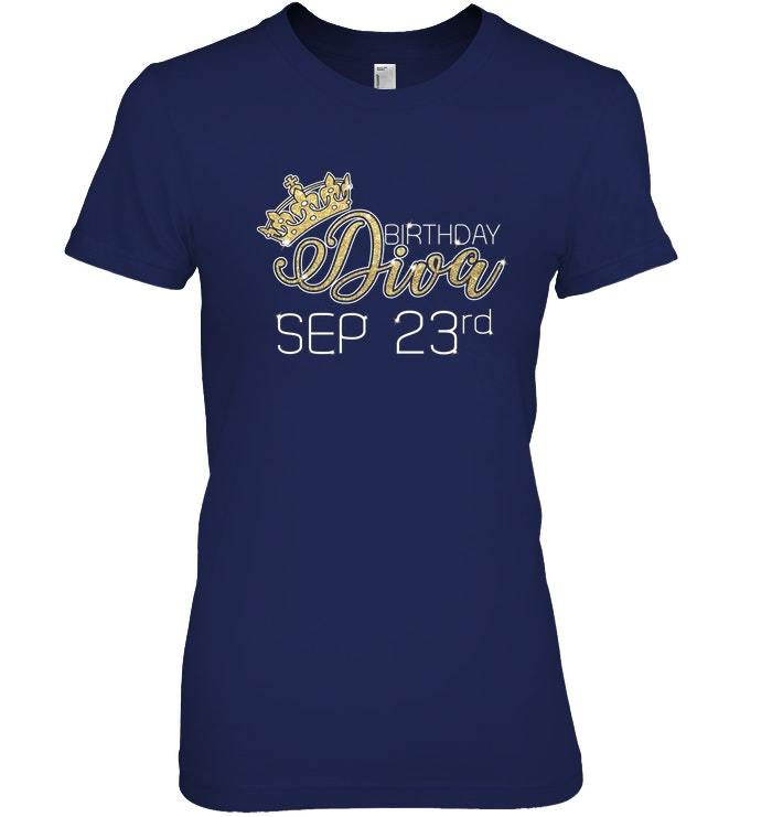 Birthday Diva on September 23rd T shirt Virgo Pride