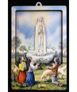 Our Lady of Fatima - 3D Wood Lazar Cut Plaque - $19.95