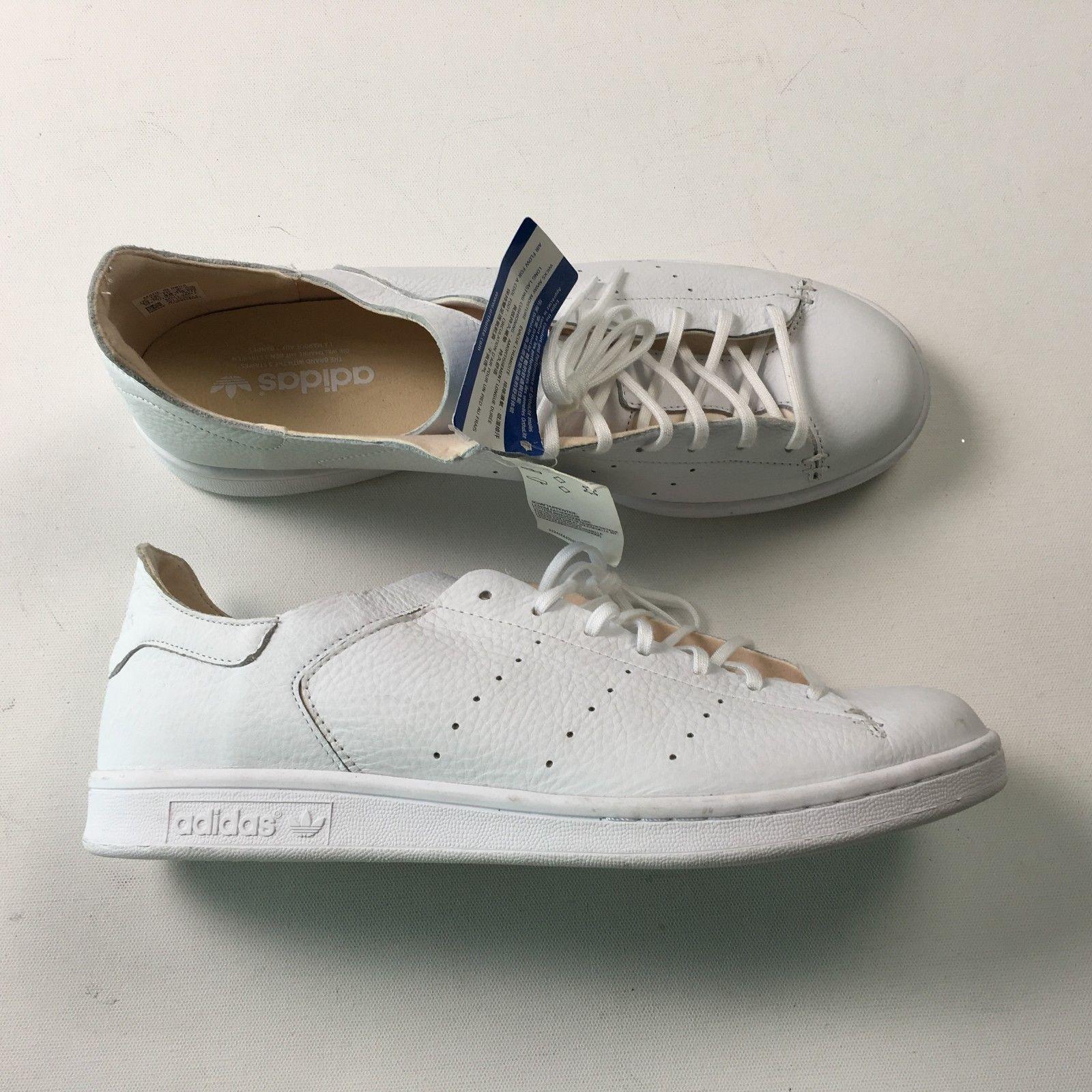 newest 22fda bcc81 ... Adidas Hombre Piel Blanca Zapatillas Zapatos de Diario 13 Stan Smith  Lea ...