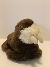 "Dakin Plush Walrus Brown Stuffed Animal Vintage 1980 9"" Marine Sea Animal Toy - $11.15"