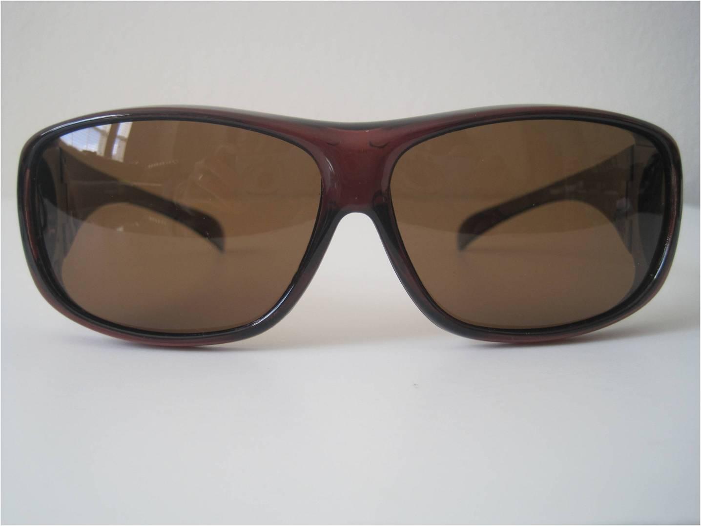 Clear bw polarized sunglasses wear put cover over rx for Prescription fishing sunglasses