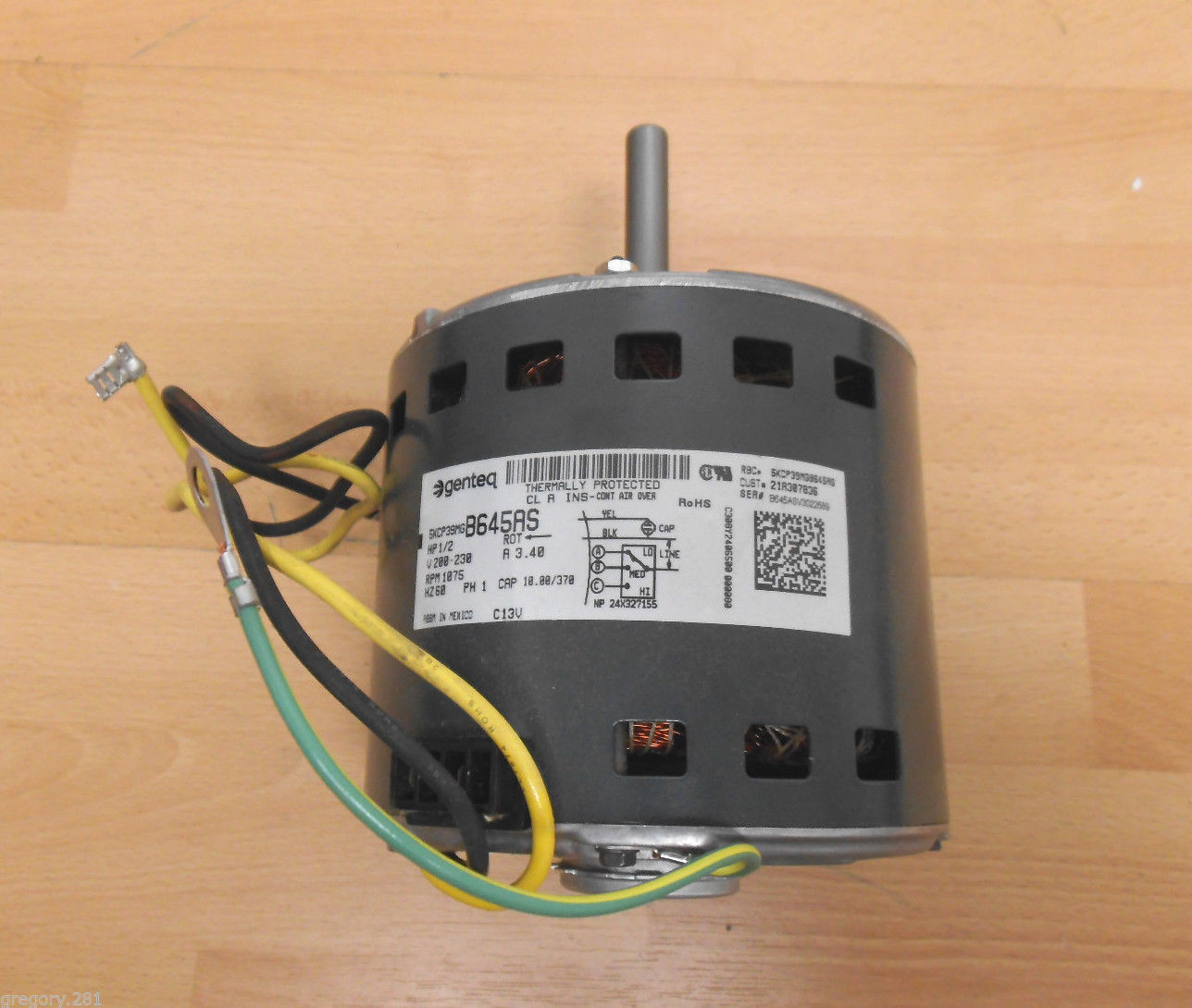 Genteq mot02609 furnace blower motor 1 2 hp and 49 similar for 2 hp blower motor