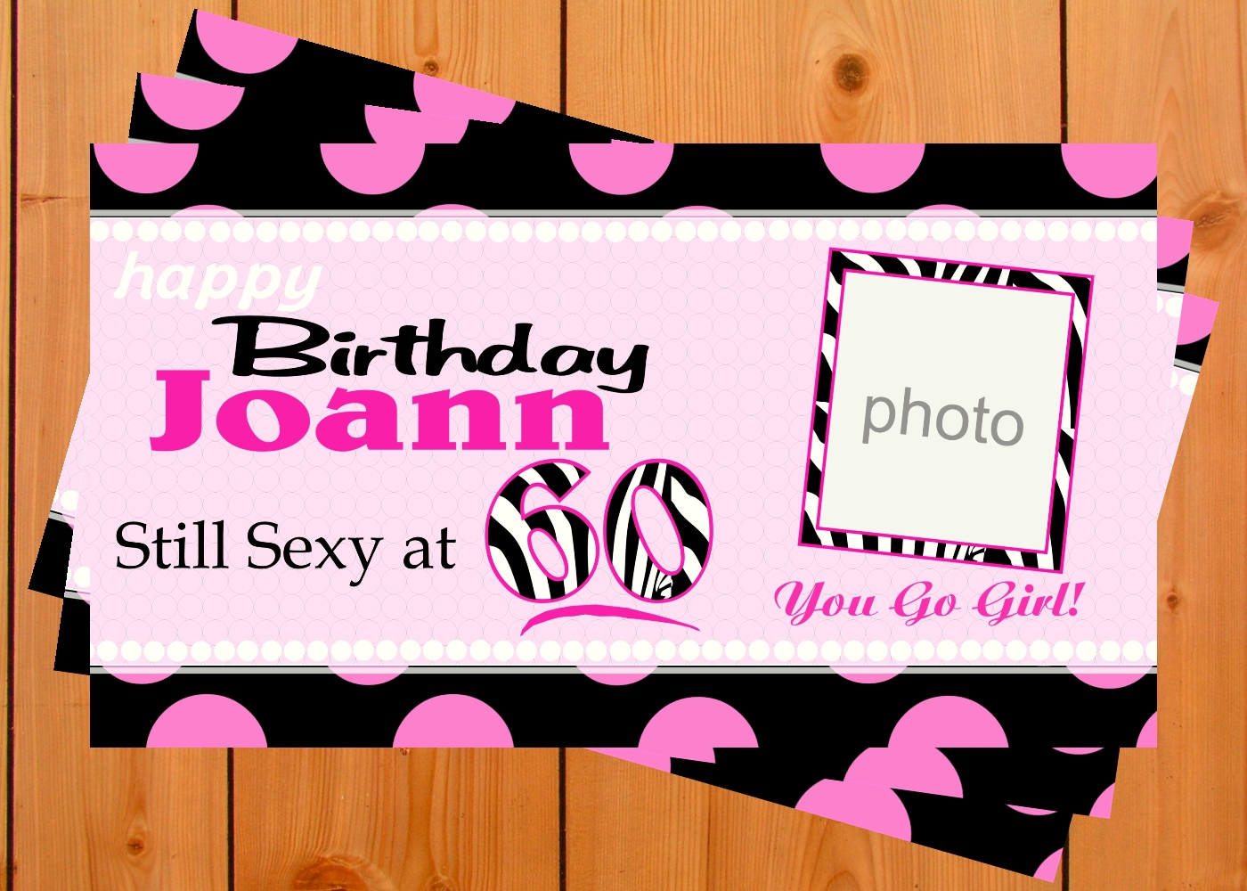 Banner display wood background design1 sixty photo