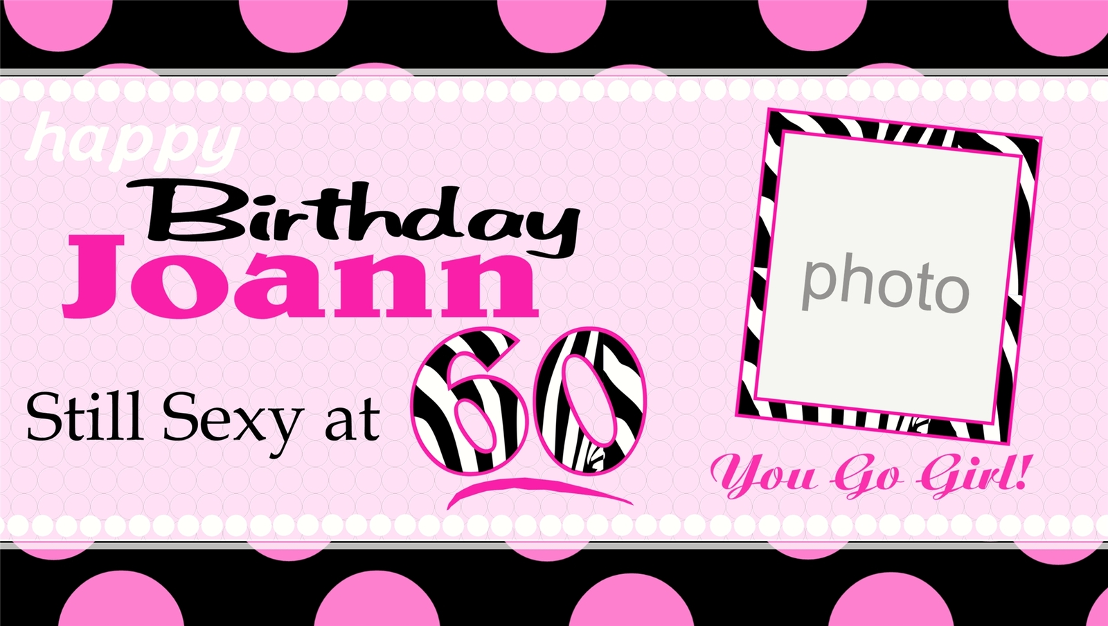 Custom -Personalized- 16, 21, 25, 30...Vinyl Birthday Banner Decoration w/ Photo