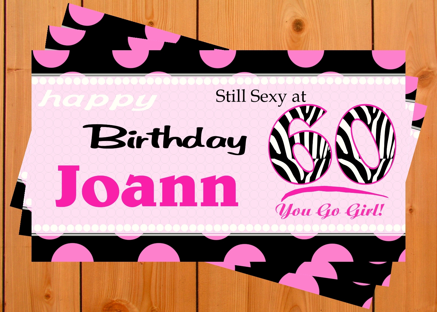 Custom -Personalized 16, 21, 25, 30, 40, 50 etc Vinyl Birthday Banner Decoration