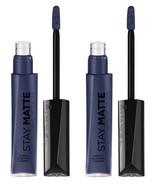 Lot of 2 RIMMEL STAY MATTE LIQUID LIP COLOR -830 Blue Iris- NEW SEALED - $6.81