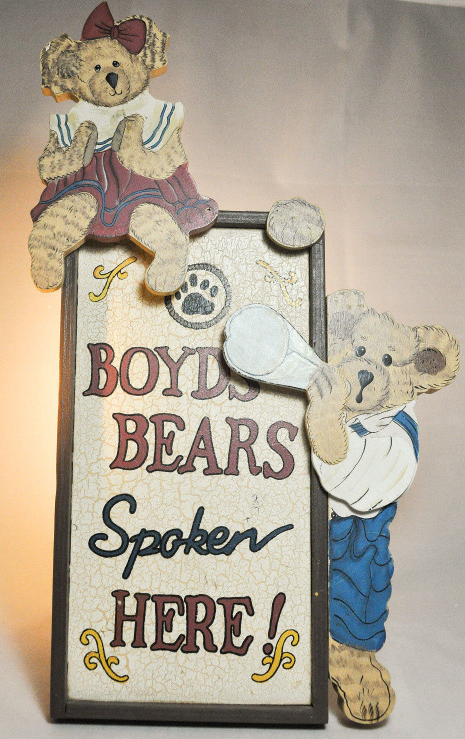 "Boyds Bears: Boyds Bears Spoken Here - Display Stand - # 654900 - 15"" x 8 1/2"" image 2"