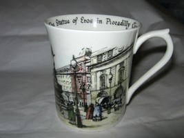 Rosina Queen's Scenes of Old London Circus Statue of Eros bone china cup... - $29.59
