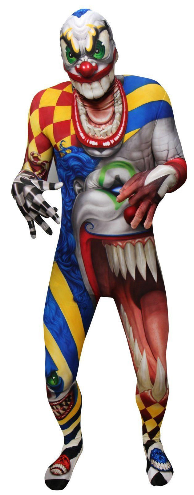 Primary image for Adult Creepy Clown Halloween Morphsuit Costume Extra Large
