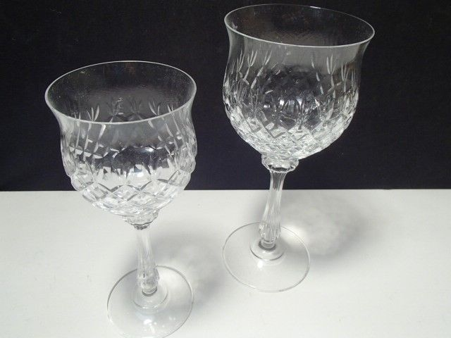 2 MIKASA CRYSTAL CHATEAU WINE / GOBLETS~~2 sizes