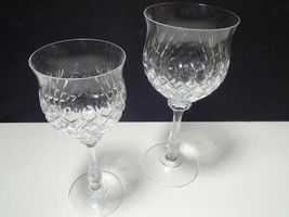 2 MIKASA CRYSTAL CHATEAU WINE / GOBLETS~~2 sizes - $29.99