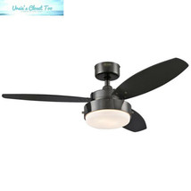 Westinghouse 7876400 Alloy 42-Inch Gun Metal Indoor Ceiling Fan, Light Kit... - $85.75