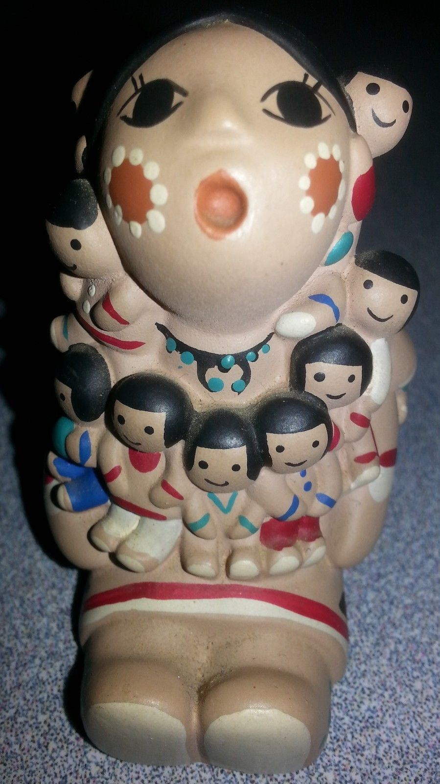 Storyteller Cleo Teissedre Doll 1991 Signed rare Vintage collectible native art