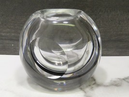 Glass Paperweight  Vase Vicke Lindstrand Kosta LS606 Striped w Impressed... - $98.01