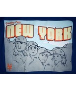 New York Mets Mens XL T-Shirt DeGrom Matz Harvey Syndergaard Blue 100% C... - $9.49