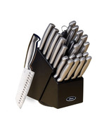 Oster Baldwyn 22 Piece Stainless Steel Cutlery Set with Stainless Steel ... - $92.20
