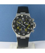 Victorinox Swiss Army 241408 Summit XLT Chronograph Black Rubber Watch N... - $269.49
