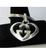 Gucci Love Britt Heart Key Ring Sterling Silver GG Guccisima NWOT $295 - $238.13