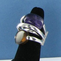 Pianegonda 4 Split Dome Ring Multi-Faced Sterling Silver Amethyst Sz 7 N... - $558.59