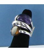 Pianegonda 4 Split Dome Ring Multi-Faced Sterling Silver Amethyst Sz 7 N... - $558.59